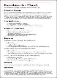 Electrical Apprentice CV Sample