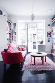 Red Sofa Living Room Ideas by Apartment Attractive Design In Small Living Room With Stirring Red