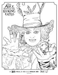 Alice Through The Looking Glass Coloring Sheet Mad Hatter