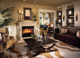 Warm Living Room With Brown Tones