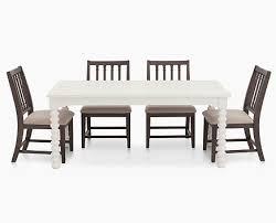 SpoolLeg5PcDiningGroupOak1 Magnolia Home Spool Leg 5 Pc Dining Room Set Furniture Row