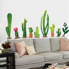 großhandel viele arten kakteen grüne pflanzen wandaufkleber wohnzimmer schlafzimmer hintergrund dekoration wandtattoo wanddekor tapete lotlot
