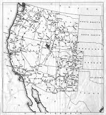 US Highways In The Western States Shown On 1936 California Official Highway Map