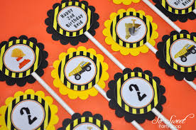 Construction Birthday Cupcake Toppers, Boys 1st Birthday ... Mud Trifle And A Dump Truck Birthday Cake Design Parenting Diy Awesome Party Ideas Pinterest Truck Train Cookies Firetruck Dump Kids Cassie Craves Dirt In Cstruction With Free Printable Shirt Black Personalized Stay At Homeista Invitations Dolanpedia The Mamminas A Garbage Ideal For Anthonys Our Cone Zone