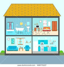 Kitchen Clipart Set Vector Interiors Furniture Equipment Design Stock On Play Clip Art