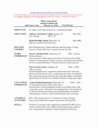 Simple Registered Nurse Resume Sample Format