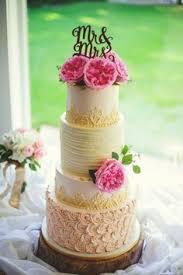 Textures Buttercream Rustic Glam Wedding Cake