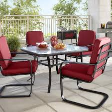 Essential Garden Bisbee Tempered Glass Square Patio Dining Table