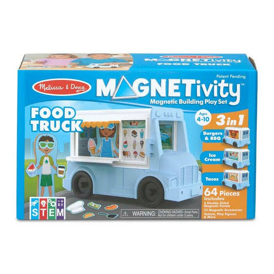 Melissa & Doug Building Play Set Food Truck Magnetivity Magnetic