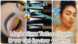 100 Munoz Studio Maybelline Tattoo Brow Gel Review Demo Isabel