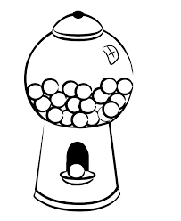 Chewing gum clipart black and white