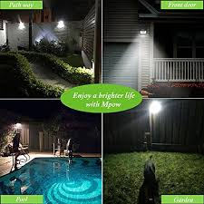 mpow solar lights 2 pack 8 led bright solar powered security