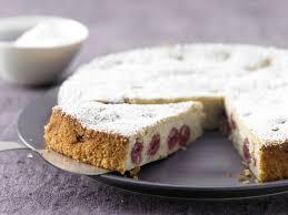 ricotta quark kuchen mit sauerkirschen