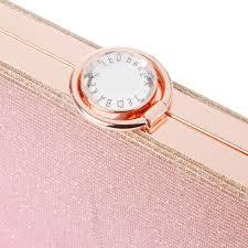 ted baker giselle hard case glitter clutch bag in pink lyst