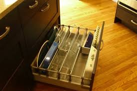 before after a better way to organize pots and pans in the