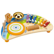 Hape Kitchen Set Nz by Hape Mighty Mini Band Rainbow Wooden Musical Instrument Drums