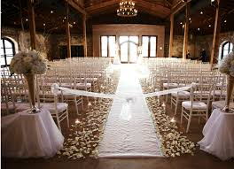 An Indoor Rustic Ceremony The Full Effect
