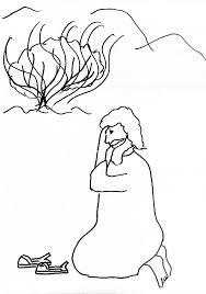 Moses And Burning Bush Better Coloring Page