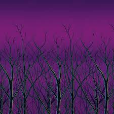 Scene Setter Roll Halloween by Spooky Halloween Scene Setter Room Roll Tree Tops Sky Wall