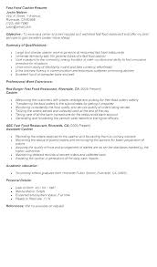 Resume Examples Cashier Experience Sample Of No