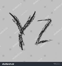 100 Grafitti Y Alphabet Letters Alphabet Graffiti Written Chalk Stock Vector
