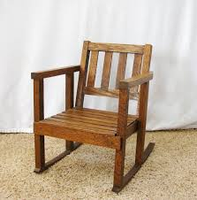 vintage child s rocking chair mission style rocking chair child s