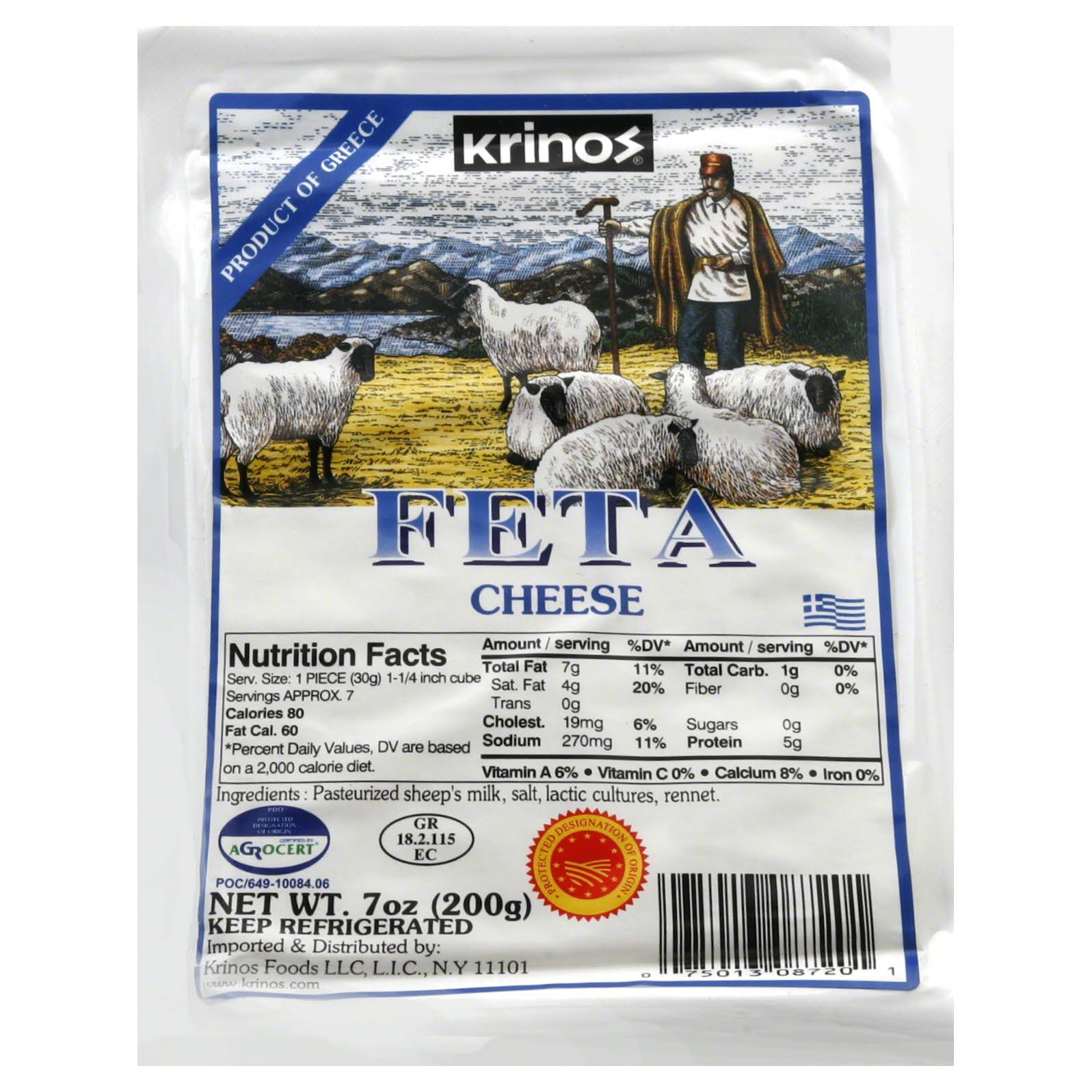 Krinos Feta Cheese - 7 oz