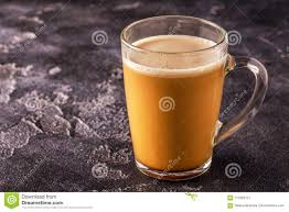 Download Bulletproof Coffee Blended With Organic Butter And MCT Coconut Stock Image
