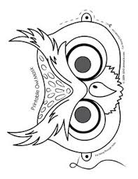 O Is For Owl Cute Printable Halloween Animal Paper Masks Mask Coloring