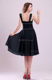 peacoat bridesmaid dress cute a line sleeveless chiffon knee