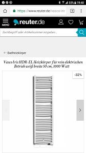 vasco standheizkörper rein elektrischer in 65321 heidenrod