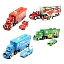 Disney Pixar Cars Mack Lightning McQueen & Chick Hicks & King ...
