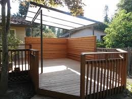Roll Up Patio Screens by Acrylite Patio Cover With Privacy Screen Deck Masters Llc
