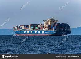 100 Shipping Containers California Enormous Cargo Ship Full Passing Santa Barbara