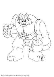 Free Lego Marvel Superheroes Hulk Coloring Sheet
