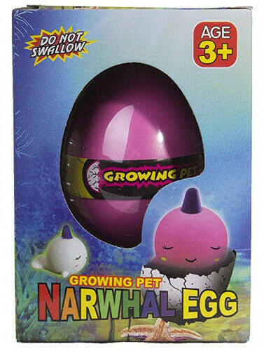Master Toys & Novelties Grow An Narwhal - Narwhal Egg Hatching Pet, Just Add