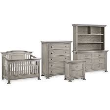 Munire Dresser With Hutch by Kingsley Brunswick Nursery Furniture Collection In Ash Grey