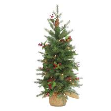 Balsam Christmas Trees Real by 4 Ft Pre Lit Christmas Tree With Urn Clear Lights Hayneedle
