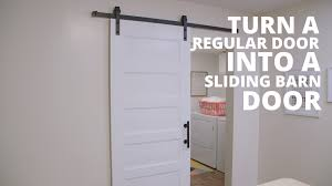 Sliding Bathroom Barn Door Video | HGTV Barn Style Doors Bathroom Door Ideas How To Install Diy Network Blog Made Remade Bathrooms Design Froster Sliding Shower Doorssliding Fancy Privacy Teardrop Lock For Modern Double Sink Hang The Home Project Kids Window Cover For The Fabulous Master Bath Entrance With Our Antique Rustic Modern Industrial Cabinet