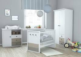 chambre bebe promo chambre bébé contemporaine coloris blanc argile nuage chambre