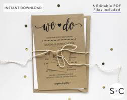 Rustic Wedding Invitation Template Templates Cards Cheap Invitations