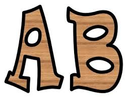 Wood Grain Bulletin Board Letters by Carol Young Podmore