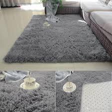 großhandel grau farbe antiskid shaggy weichen teppich moderner teppich matte für wohnzimmer schlafzimmer teppich bettvorleger qiqihaercc 25 61