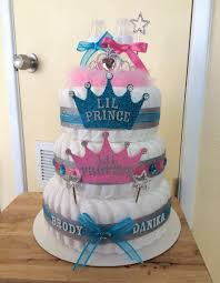 Baptism Decoration Ideas For Twins by I Think This Is A Diaper Cake For Twins But I Like It As Gender