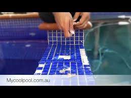 how to replace pool tiles