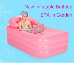 2017 new arrival portable inflatable bathtub thickened pvc