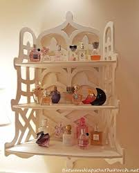 Perfume Stored On Decorative Shelving