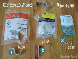 Electrical Conduit Curtain Rods by The Craft Patch The Cheapest Curtain Rod And Easy Almost No Sew