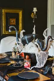 This Crazy Lady Scientist Glam Halloween Table Setting Is So Fun