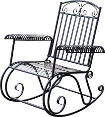Nocona Iron Outdoor Porch Rocking Chair